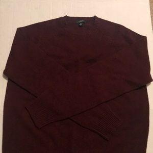 J. Crew wool sweater burgundy maroon like new sz L